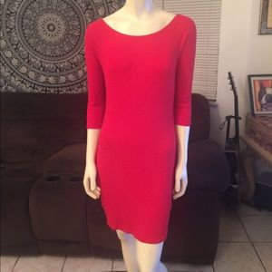 Charlotte Russe Little Red Cotton L/S Dress Large